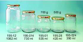 glasburkar för sylt